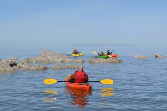 11. Kayaking on the Great Salt Lake.