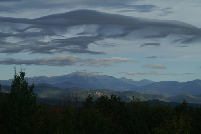 1. The Presidential Range is so big that it affects weather patterns, as you can see with these clouds.