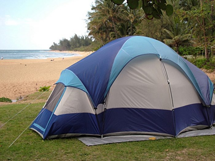 12. Spend a night camping on the beach.
