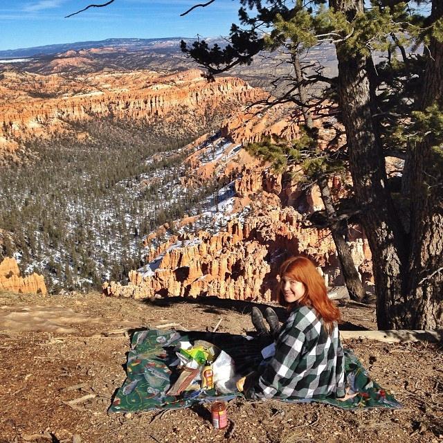 12. Picnic at Bryce Canyon National Park.