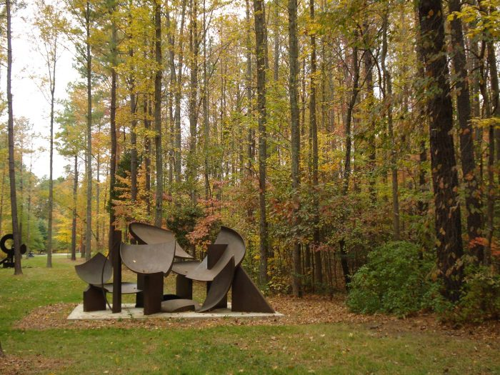 Annmarie Sculpture Garden & Art Center is open year-round, giving the grounds a glorious copper-toned hue during autumn.