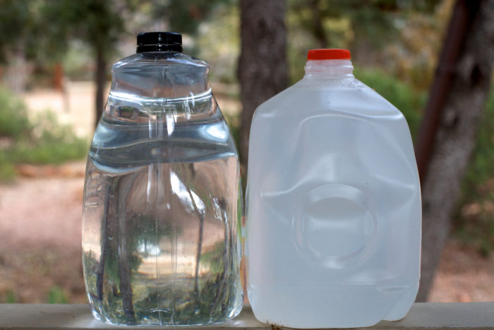 3. You keep a couple gallons of water and a bottle of sunscreen in your car at all times.