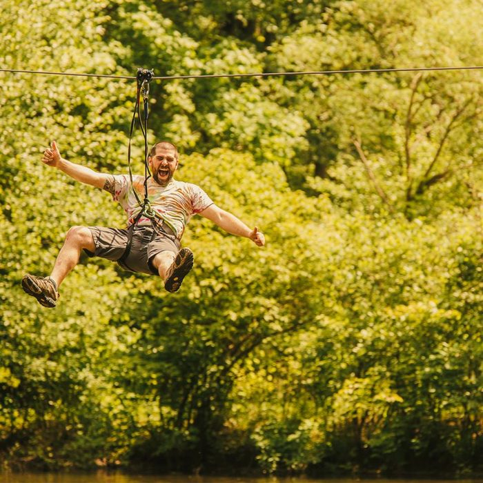 5. Ride the longest zipline in the state at Go Ape Treetop Adventure in New Britain.