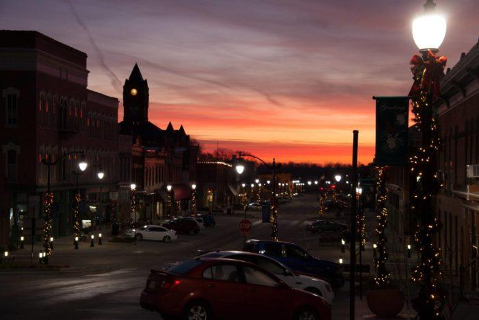 5. Downtown Plattsmouth at sunrise