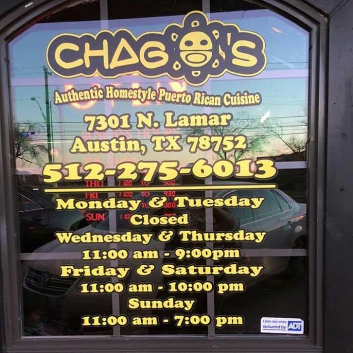 9. Chago's is hard to catch when driving down Lamar Blvd., but you better keep your eyes peeled if you want to try some full of flavor, Caribbean eats.