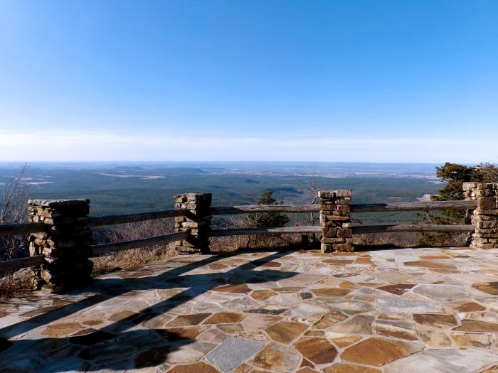 8. Check out the views from the Cameron Bluff Overlook on Mount Magazine.