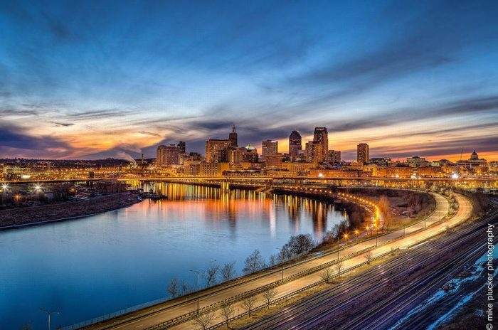 4. St. Paul has so many parks with spectacular views. that any of them are a good choice when looking for a sunset view. The ones from the east are especially phenomenal.
