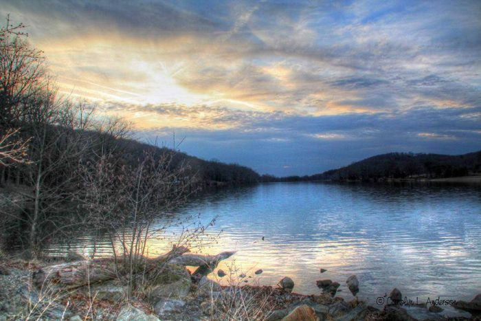11. New Alexandria's Keystone State Park is swathed in shades of blue and white in this amazing photo by Carolyn Anderson.