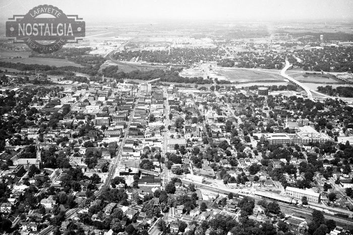 11. Aerial View of Lafayette, 1961