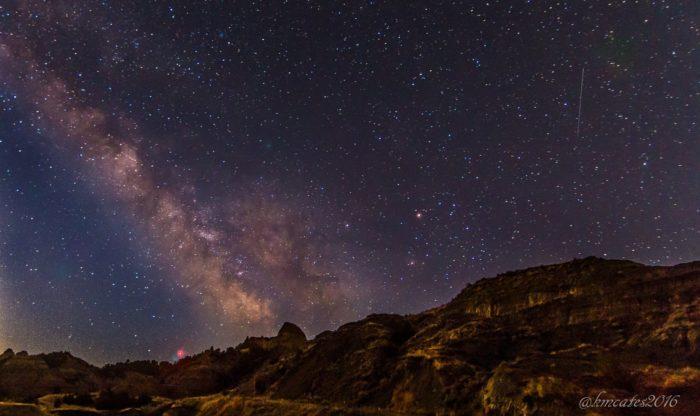 12. Makoshika State Park at night.