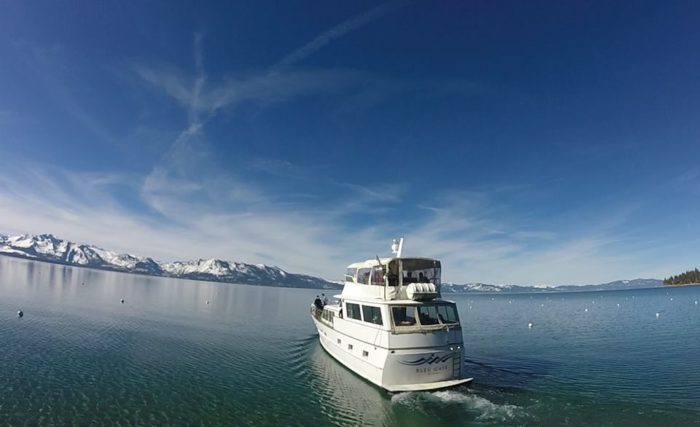 Instead, take a cruise on the Bleu Wave on Lake Tahoe.