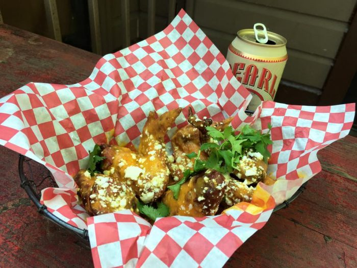 """10. Lucy's Fried Chicken has served up some creative flavored wings like these """"cheese and chong"""" wings in honor of 4/20."""