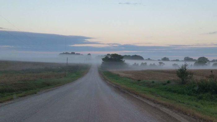 14. Firth, NE under a blanket of fog