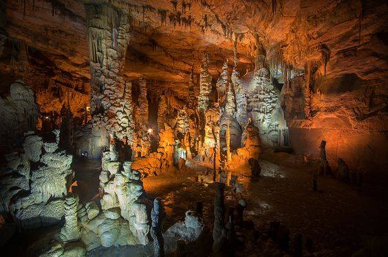 From the beginning of your tour until the end, the caverns' towering features will overwhelm you with their natural beauty.