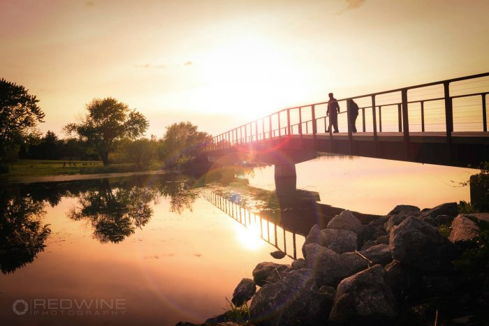 10. The bridge over Holmes Lake in Lincoln takes on a magical look in the sunset when the water is like a mirror.
