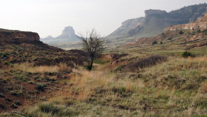 6. The Scotts Bluff National Monument looks a bit magical on any old day, but here with smoke slightly obscuring the view it looks otherworldly