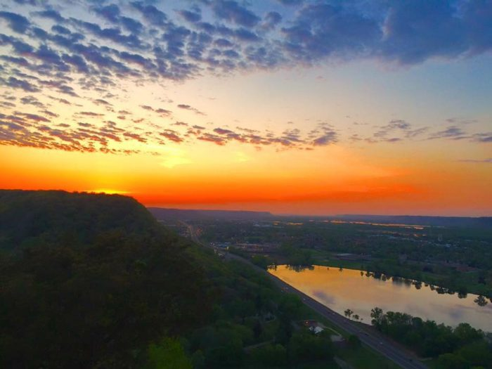 2. Garvin Heights in Winona has the best view overlooking the lake, city, and even the Mississippi.