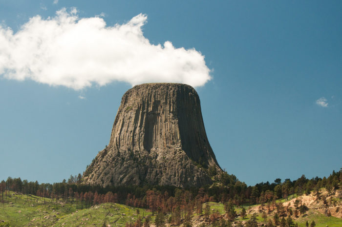 10. The Devils Tower looks like it has magical powers.