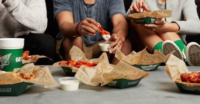 2. Wingstop wings are great any time of the day, and their classic flavors are why we keep going back for more.
