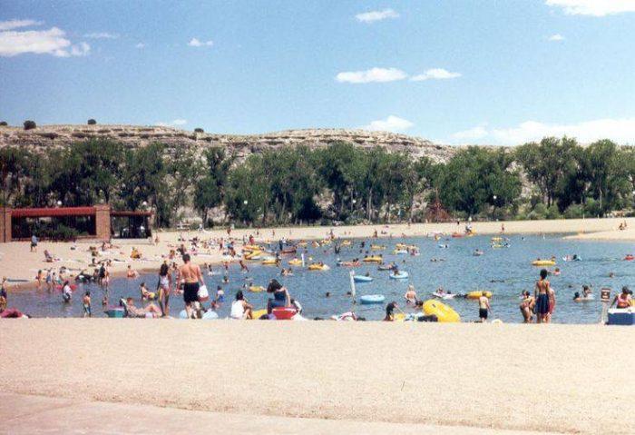 how to make a sandy beach on a lake