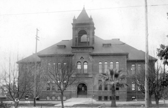 7. Santa Ana High School as photographed in the early 1900s.