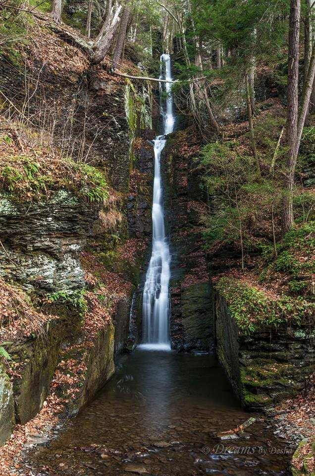 7. Silver Thread Falls appears to fall for mlies in this gorgeous photograph by Desha Utsick.