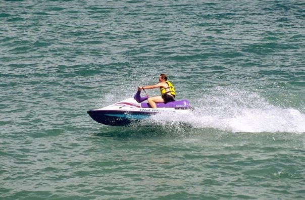 4. Jet-skiing on Willard Bay.