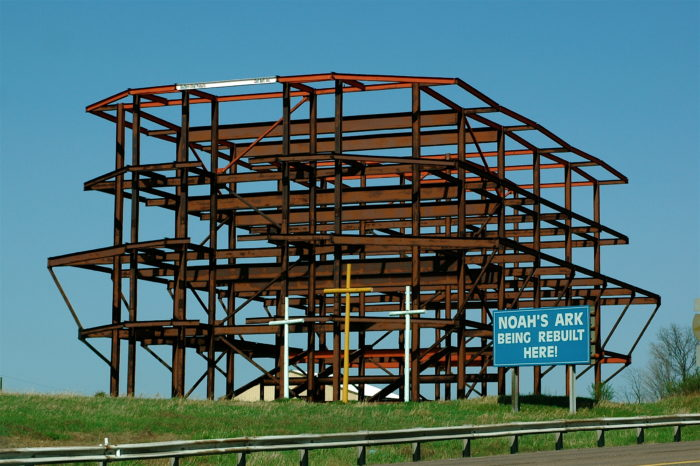 7. Drive along Route 68 and you'll spot this mysterious metal structure that has been in standstill progress for decades.