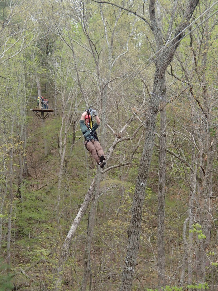 Feel like flying? The Canopy Tour also includes eight zip lines which can take you up to 40 MPH.
