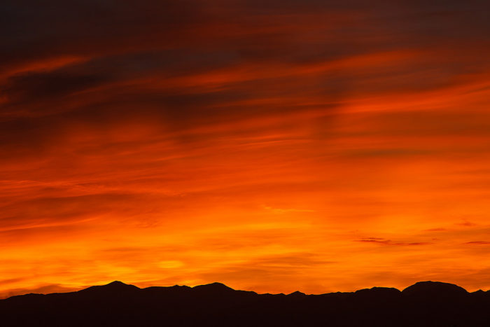 1. You take those Nevada sunsets for granted.