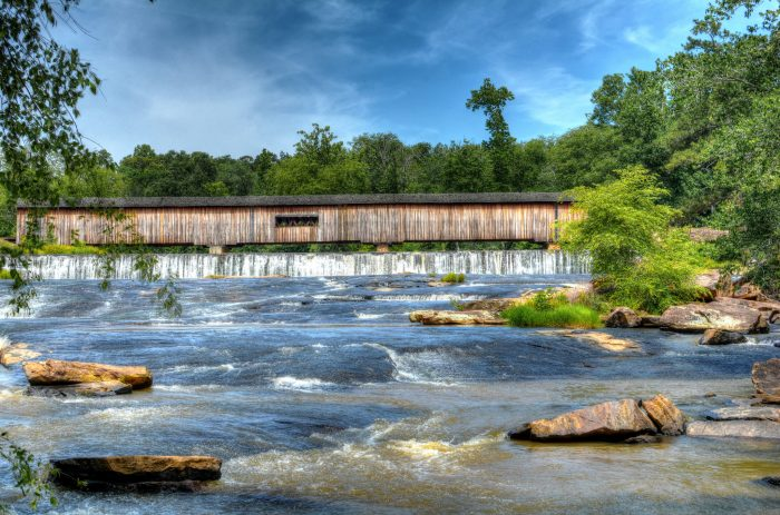 21. Adventure across as many covered bridges as you can.