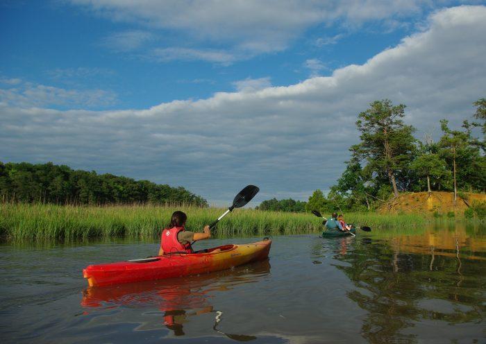 11. Paddling along creeks and rivers
