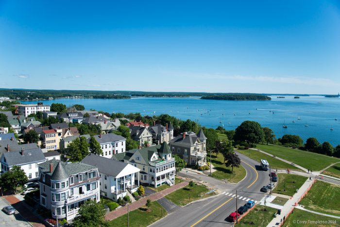 9. Overlooking one of Maine's beautiful bodies of water.