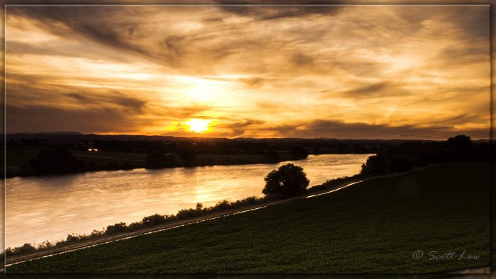 8. The Snake River is a golden wonderland in this photo.