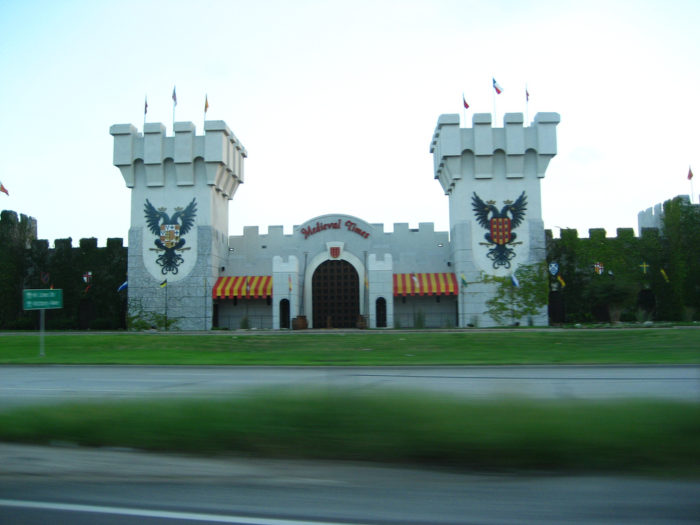 3. Medieval Times is located in Dallas for guests to come and enjoy medieval activities like jousting, sorcery, and much more.