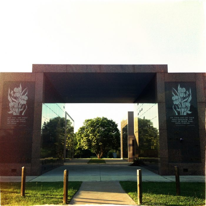 10. Onion Creek Memorial Park may look creepy from the outside, but it is actually known to be quite a peaceful area.