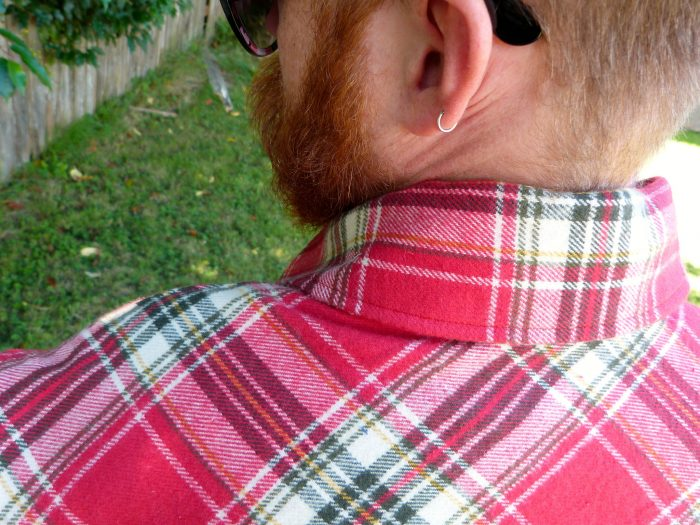 2.  Put on your plaid flannel shirt.