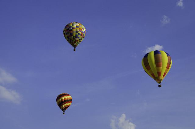 1. Go on a hot air balloon ride.