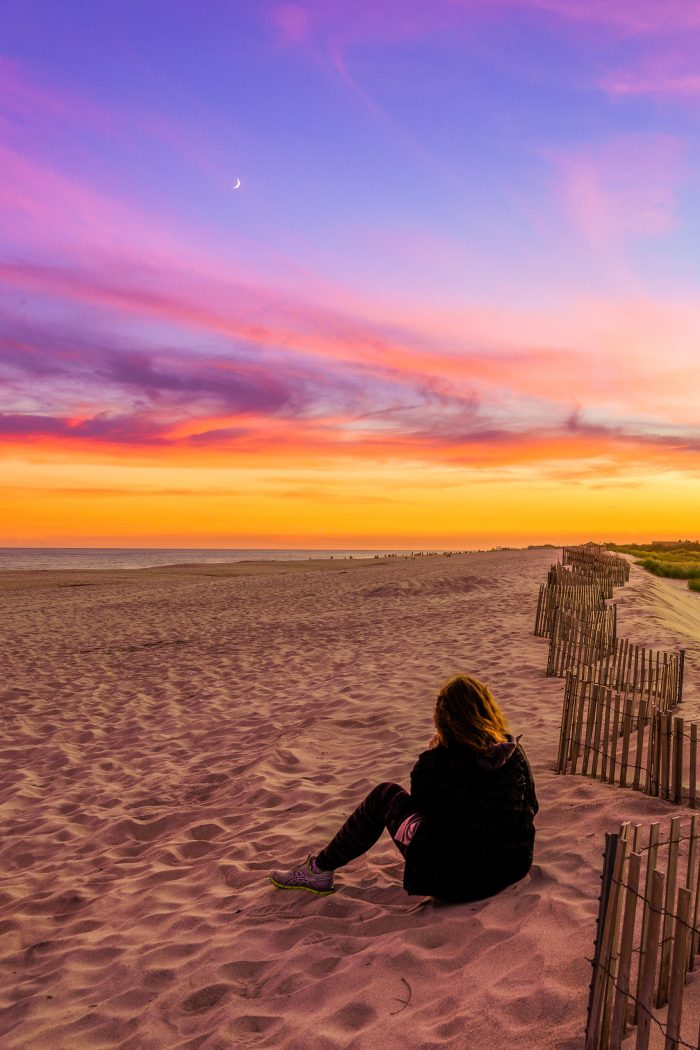 3. Another beautiful shot of Fire Island, if it wasn't for the person sitting on the beach I would think this is another planet!