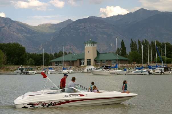 13. Boating at Utah Lake State Park.