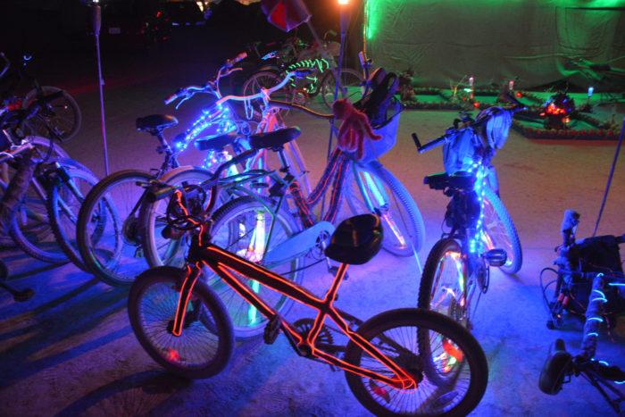 6. Ride through Las Vegas on a blinking bike.