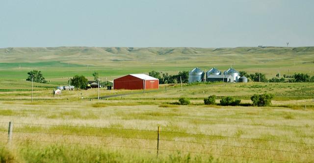 8. This farm set perfectly where the prairie meets the hills.