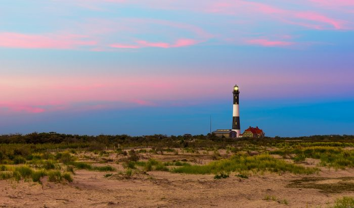 1. Could this picture be anymore perfect? There's nothing like capturing a colorful sunset on Fire Island with our picturesque lighthouse!