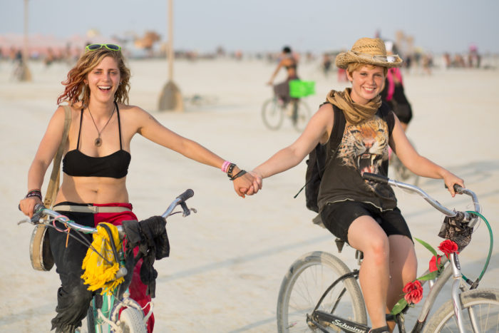 8) It is illegal to ride a bike with only one hand. (New Orleans Sec. 154-1414)