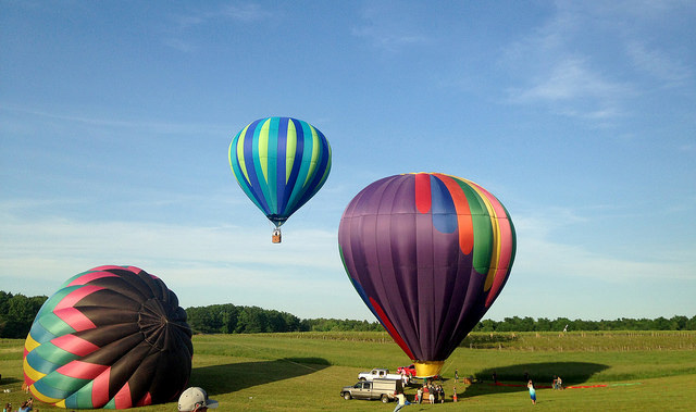 1. Go on a hot air balloon ride.