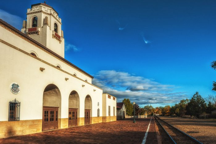 6. Captured that iconic shot of the Boise Train Depot.