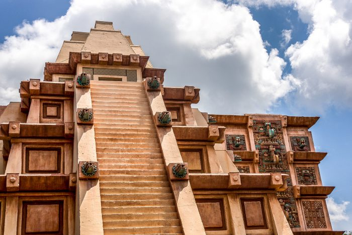 13. This exotic temple is one of many unexpected sights at Disney's Epcot Center.