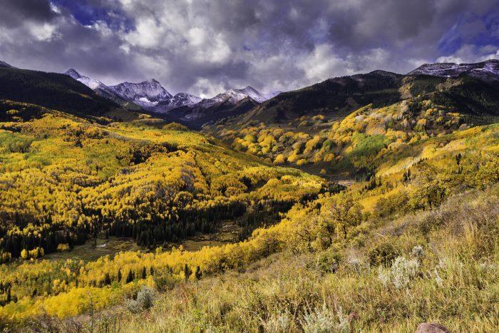 """6. """"Fall Colors Below Capitol Peak"""""""
