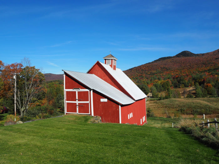 5.  Red barns.