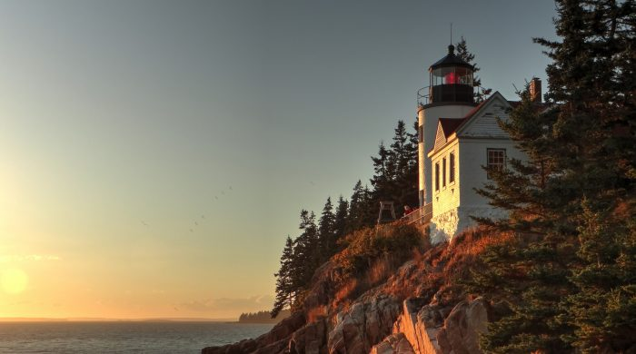 7. Feel centered and guided by visiting a Maine lighthouse.